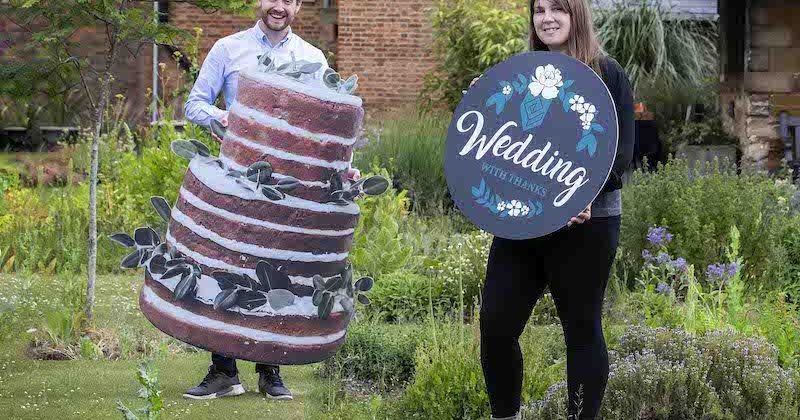 Wedding with thanks – dreams to come true at Delapré Abbey