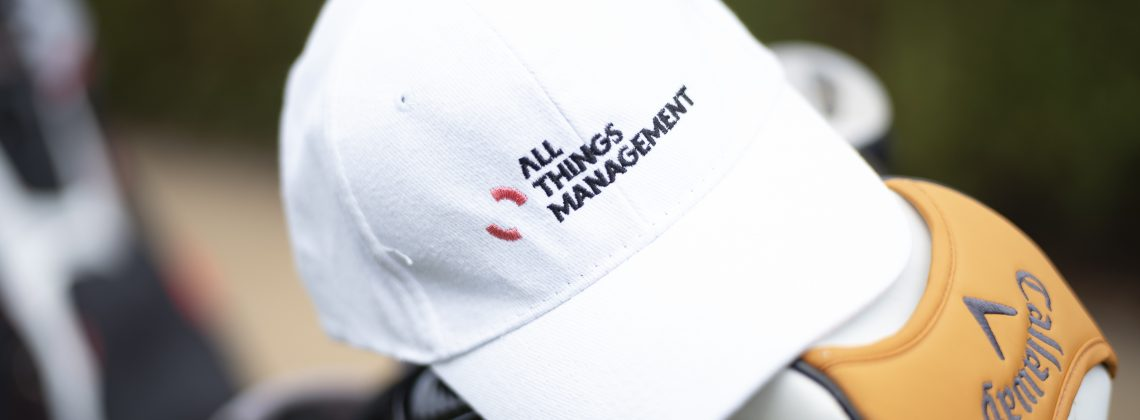 All Things Management Baseball Cap Golf Day