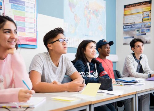 Global learning in the classroom at Bosworth Independent College