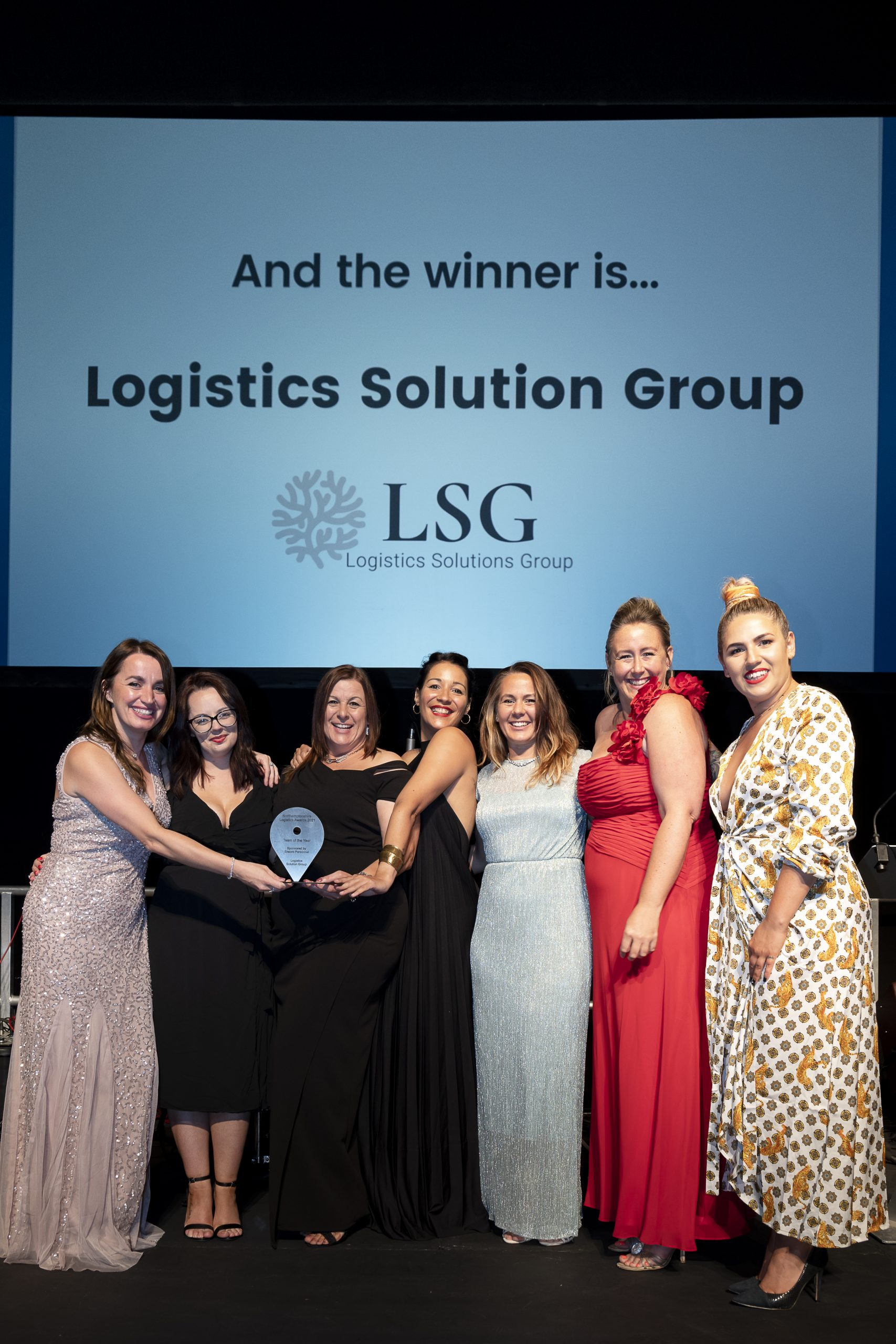 Logistics Solution Group accepting award