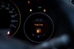 low fuel warning