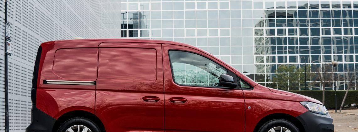 VW van red vehicle motor travel