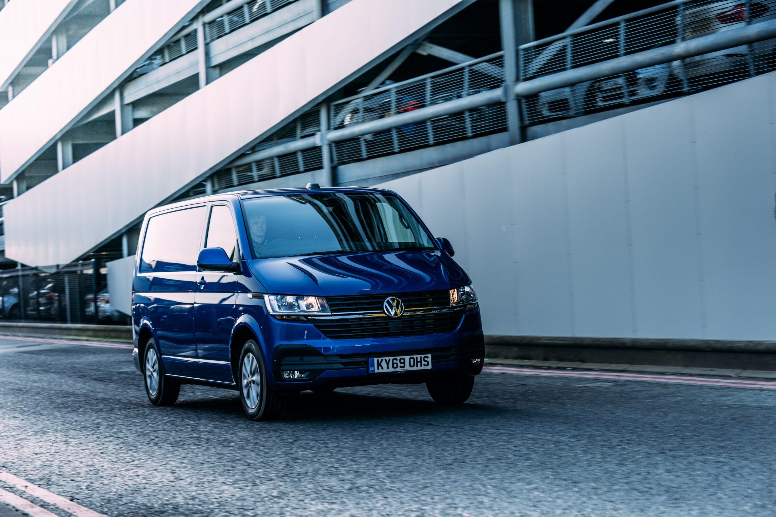 VW blue van travel motor